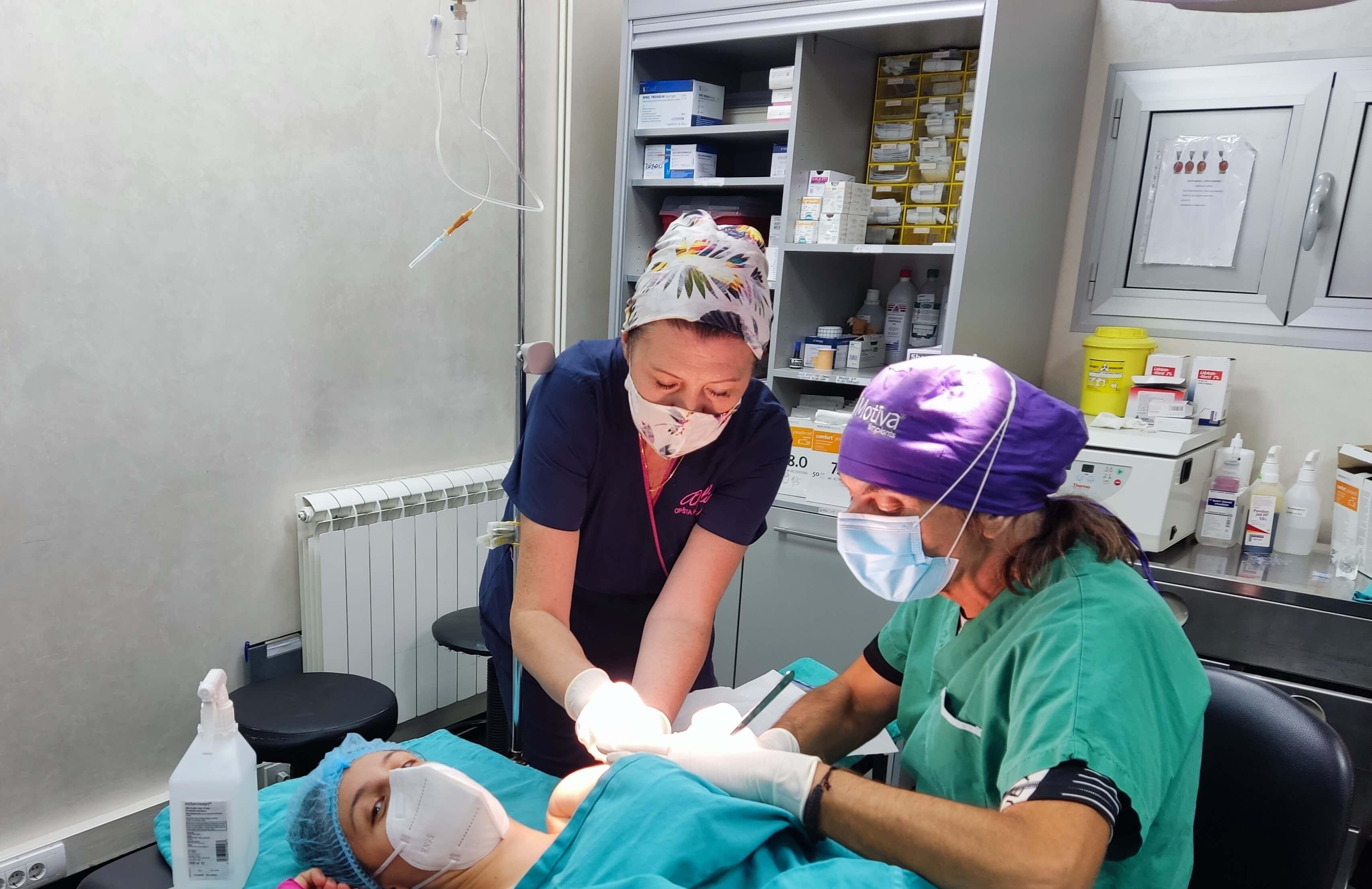 I naša instrumentarka @marinkoviceva_mala je bila naš pacijent...