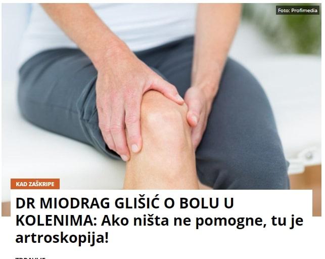 Dr Miodrag Glišić o bolu u kolenu
