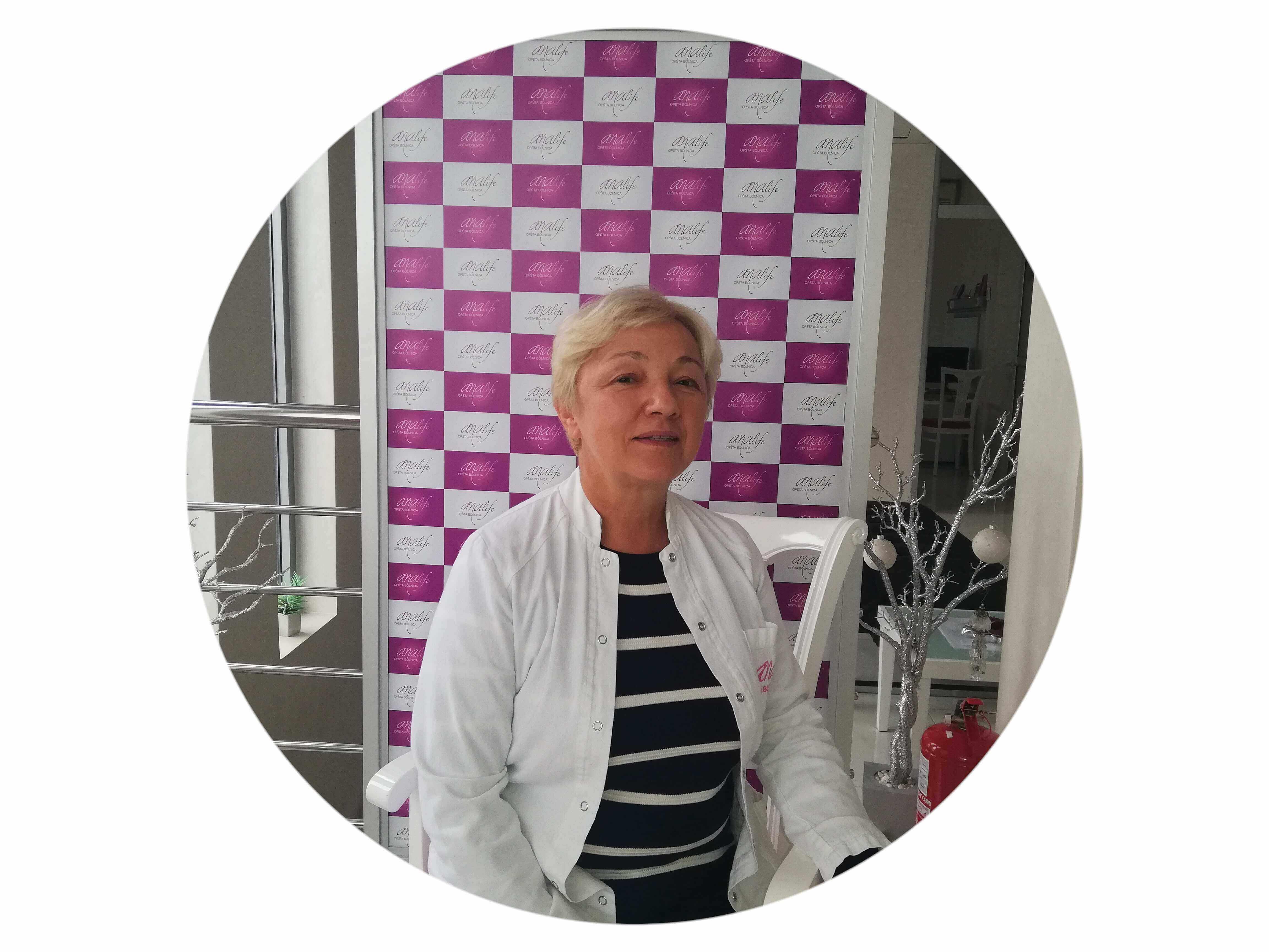 Dr Ljiljana Urošević - specijalista fizikalne medicine i rehabilitacije. Upoznajte naš tim!